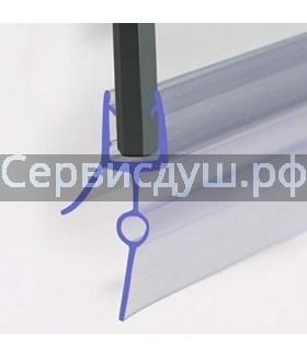 Уплотнитель (силикон) нижний для дверок душевой кабины 6мм,8мм (длина 2 м)