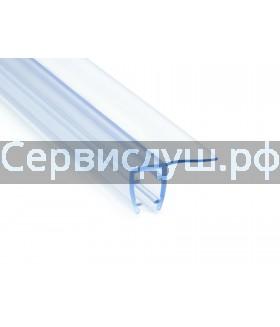 Уплотнитель для стекла душевой кабины  4 мм (длина 1,9 м.) (ресничка) Материал-силикон