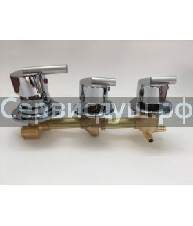 Смеситель для душ. кабины на 3 режима , межосевое расстояние 200 мм (100 мм+100 мм)