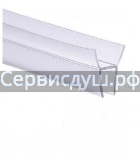 Уплотнитель (силикон) нижний для дверок душевой кабины 6мм,8мм,10мм (длина 1 м.)
