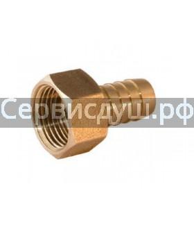 Штуцер латунный для смесителя душевой кабины резьба 1/2.вн (д.у 15) диаметр-10 мм