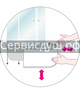 Экраны для душевых поддонов с фурнитурой и без