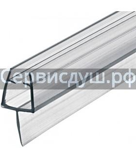 Уплотнитель (силикон) для душевой кабины (дл. 2,2 м) под стекло - 6 мм